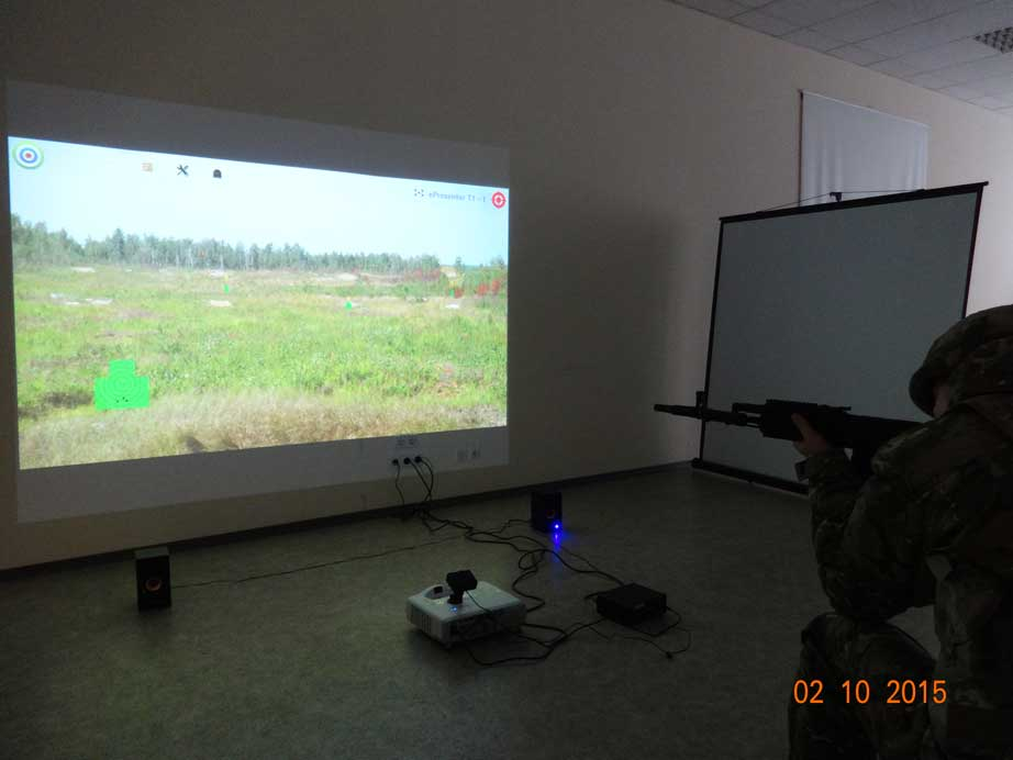 Interactive training laser shooting complex